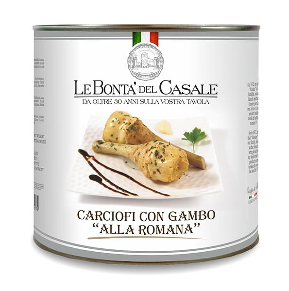 """Carciofi con gambo """"alla romana"""" in olio"""
