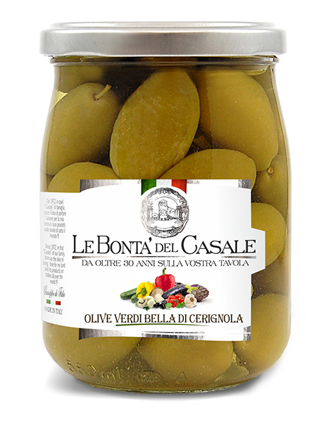 "Green Olives ""Bella di Cerignola"" in brine"