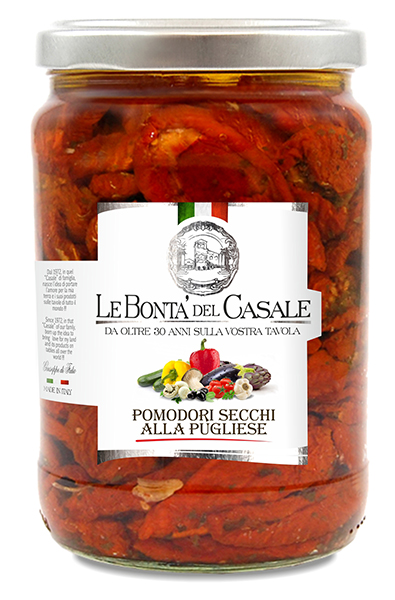 "Sundried tomatoes ""alla Pugliese"" in oil"