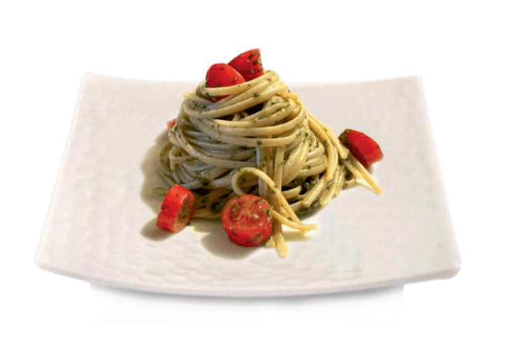 Linguine all' aglio &  basilico