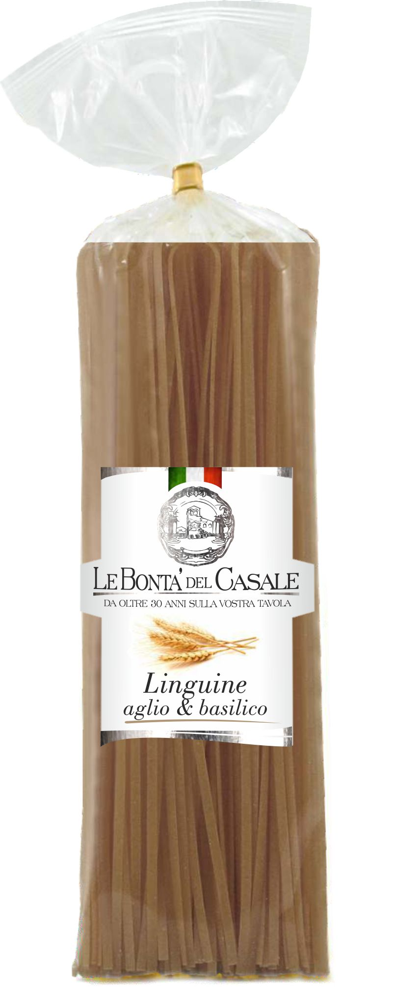 Linguine garlic and basil flavored