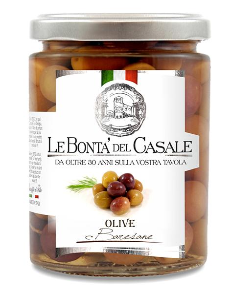 """Natural black olives """"Baresane"""" in brine"""