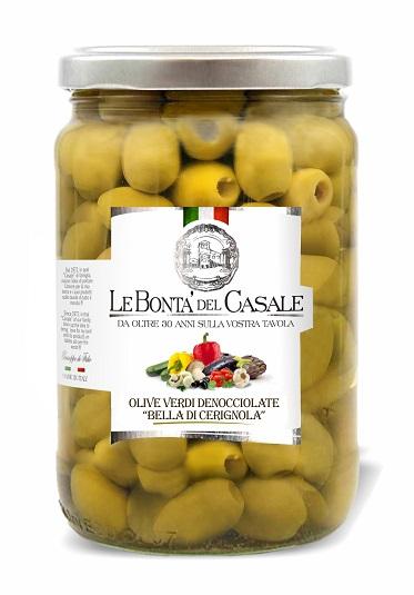 """Olive verdi  """"Bella di Cerignola"""" denocciolate  in salamoia"""