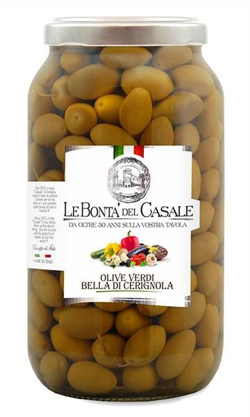 """Olive verdi """"Bella di Cerignola"""" in salamoia"""