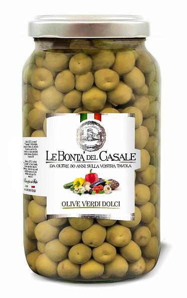 """Olive verdi """"Dolci"""" di Sicilia in Salamoia"""