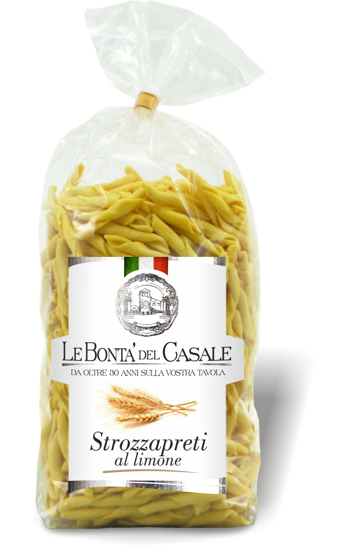 Strozzapreti lemon flavored
